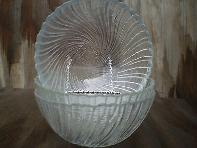 Arcoroc Seabreeze Soup, Cereal Or Salad Bowls Set Of 3 Made In France