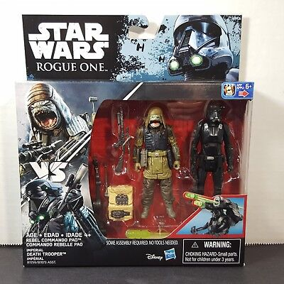 Star Wars Rogue One Imperial Death Trooper & Rebel Commando Pao Deluxe 2 Pack