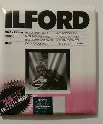 "Ilford Multigrade IV MGIV Pearl 8""x10""  40 Pack Sealed"