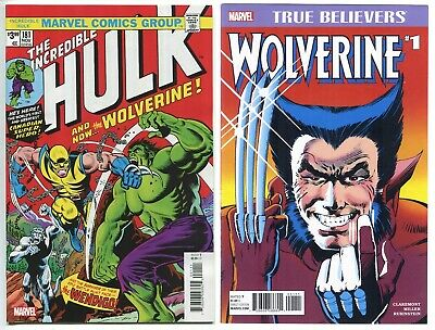 The Incredible Hulk 181 FACSIMILE Edition & True Believers Wolverine #1 Limited