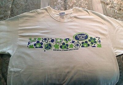 Universal Studios Hollywood Employee Only Summer Party T-Shirt HTF 2000 Hanes