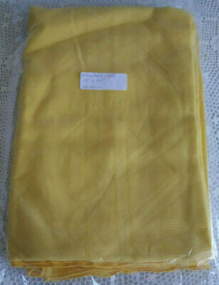 """Vintage Bright Yellow Long Table Cloth 114"""" x 58"""" No Stains Large rectangular"""