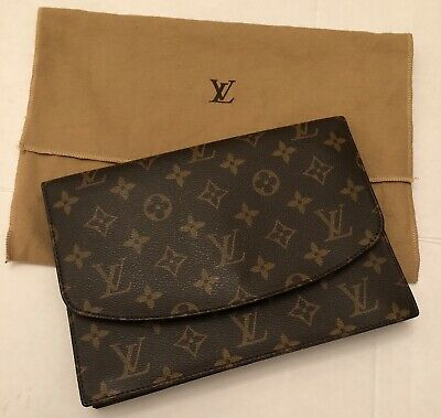 d6f9af3ff040 Auth LOUIS VUITTON POCHETTE RABAT MONOGRAM CANVAS CLUTCH HANDBAG BAG DUST  BAG