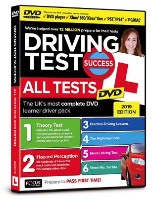 2019 Driving Theory Test Success All Tests & Hazard Perception PC/MAC DVD atDVD