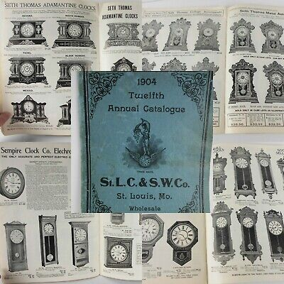 1965 Reprint Catalog of 1904 Orig St Louis Clock & Silverware Watches Ingraham