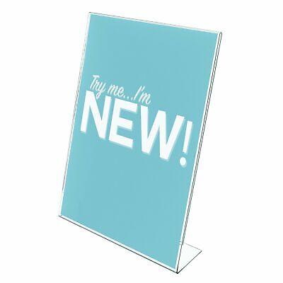 "Deflecto Classic Image Sign Holder, Inclined Counter and Desk, 8.5"" x 11"","