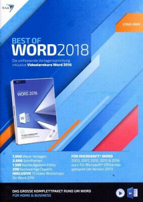 Best of WORD 2018 inklusive Videolernkurs Word 2016 (Software) NEU