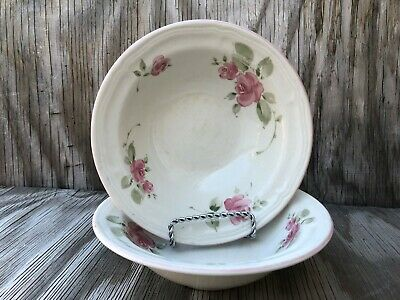 Gibson Dishes Roseland Soup, Cereal Or Salad Bowls Set Of 2