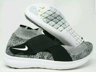 online retailer 9d752 8af9f Nike Free RN Motions Flyknit Mens Running Shoes Oreo Black White Size 11