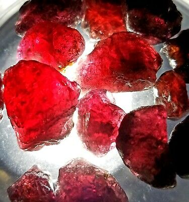 SALE PRICED 100+carats Lot Natural Cranberry Rhodolite Rough Crystals Africa