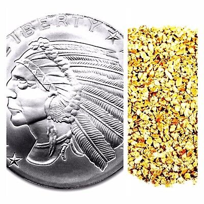 1 Troy Oz .999 Silver Incuse Indian Bu + 50 Piece Alaskan Pure Gold Nuggets