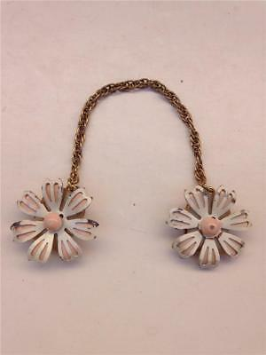 Jewelry & Watches Necklaces & Pendants Vintage Daisy Floral Gold Tone Dress Sweater Clip
