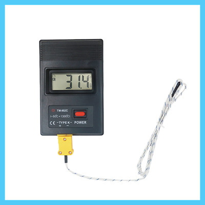 TM-902C Digital LCD K Type Thermometer Meter Single Input + Thermocouple Probe K