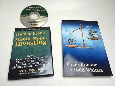 LOT REAL ESTATE BOOK + AUDIO CD Real Estate Invest Mobile Home Sales Team Agent
