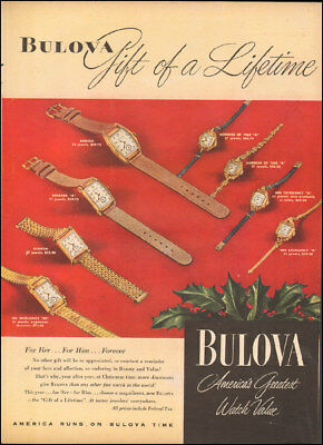 1947 Vintage ad for Bulova` Watches Christmas Multi-Styles Photo   120517