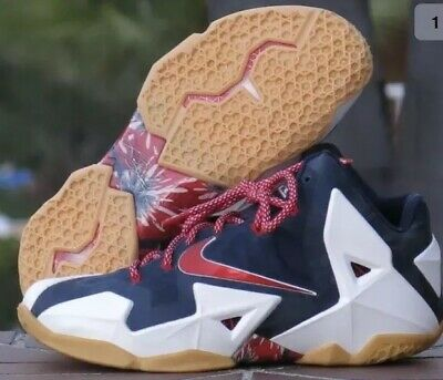 newest collection dea4d 14e40 Nike Lebron James 616174-164 Independence Day Basketball Shoes-616175-164SZ  14 R