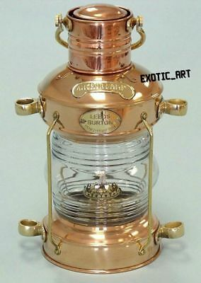 Nautical Brass Copper Ship Lantern~Marine Anchor Lamp~Maritime Boat Light~13.5""
