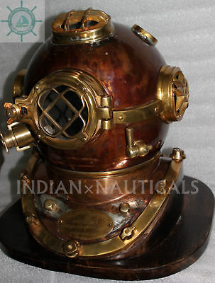Morse Us Navy Diving Helmet Mark V Mod-1 Solid Copper & Brass Antique Repoductio