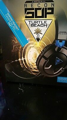 Turtle Beach Recon 50P Amplified Stereo Gaming Headset - Black/Blue - Used