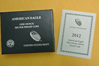 2012 W Proof Silver American Eagle .999 1 oz - US Mint Box & COA #17