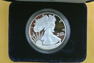 2012 W Proof Silver American Eagle .999 1 oz - US Mint Box & COA #7