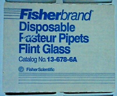 "Fisherbrand  5-3/4"" FLINT GLASS PASTEUR PIPETS  P/N 13-678-6A"