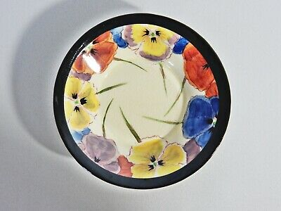 Antique Art Deco Royal Doulton Pansy D4049 Coffee Demitasse Saucer Dish Plate
