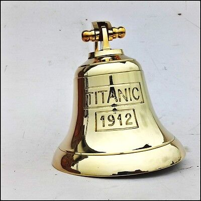 Anchor Ship Bell Titanic Bell 1912 London Hanging Bell Solid Nautical Wall Decor