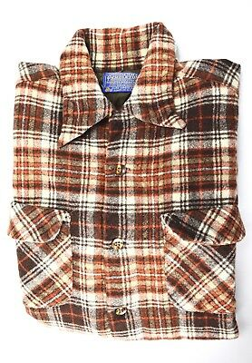 Vintage PENDLETON Pure Wool Plaid Shirt Youth Boys Size M