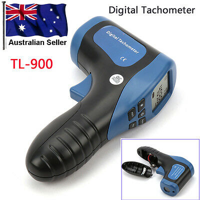 Hand-Held Digital Non-Contact Laser Tachometer - 2.5 to 99,999 RPM