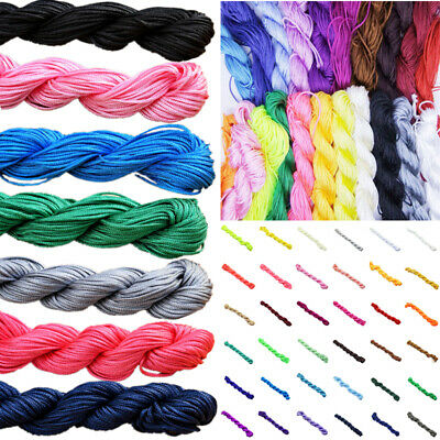 1.0/1.5mm Nylon Cord Thread Chinese Knot Macrame Rattail Bracelet Braided String