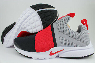 reputable site c9f2d 1426f NIKE PRESTO EXTREME Gs Gray/Red/Black Running Slip-On Women Kids Us Youth  Sizes