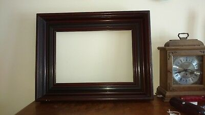 "Antique Victorian 4"" Deep Walnut Picture Frame 1870's LARGE 21"" X 26"" Aesthetic"