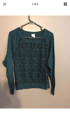 Small Victoria Secret Pink Snowflake Top Teal