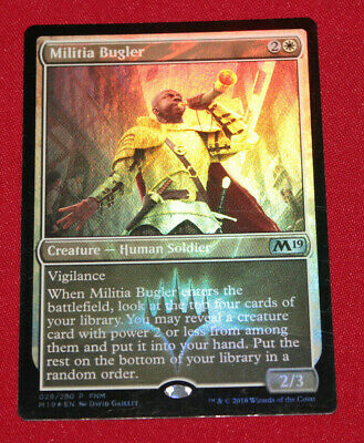 Magic The Gathering Militia Bugler Core 2019 Promo Used