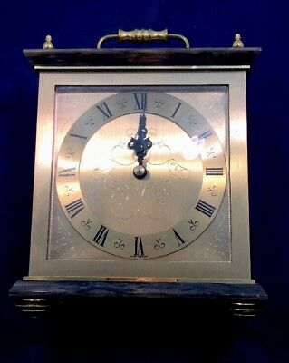 Carriage Clock Vintage Quartzmaster Germany Marble And Brass Effect Quartz 10