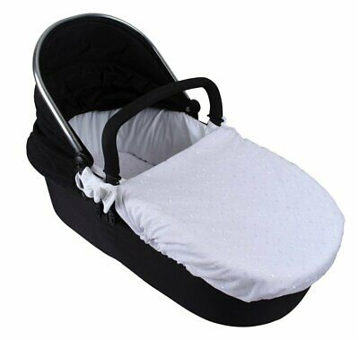 Clair de lune Broderie anglaise cozy carry cot cover white brand new Buy for £ 8