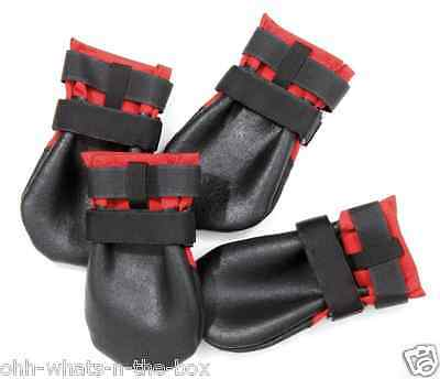 Dog Paw Covers Shoes Socks Boots Foot Protector Feet Rugged Walking Apparel 4/Pk