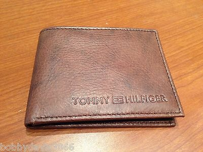a5528370d32 Authentic Brand New Tommy Hilfiger Leather Wallet Brown No Box L  k --