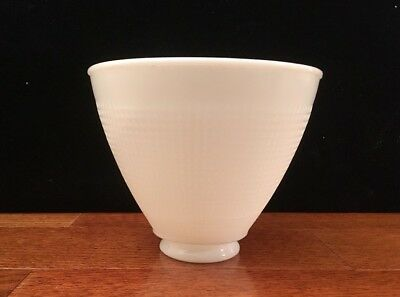 """Vintage White 6"""" Milk Glass Diffuser Lamp Shade Torchiere Waffle"""