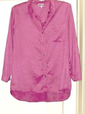 Nice NwoT Rose Pink OVER BLOUSE LONG TAIL SHIRT 'Chico's' Sz 3 (XL 16) Orig $89