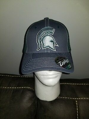 purchase cheap fe538 3ff90 New Zephyr Michigan State Spartans Stretch Fit M L Hat Cap Football  Basketball