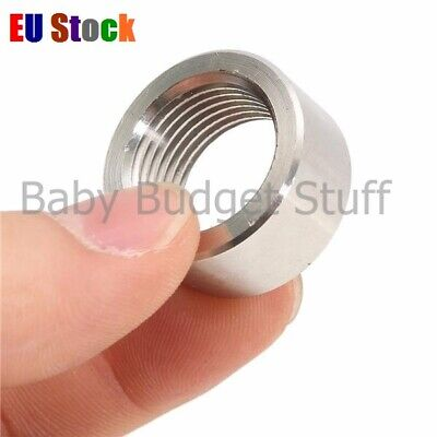 M18x1.5 Round Sensor Nut Thread Stainless Steel Exhaust Pipe Base O2 Oxygen