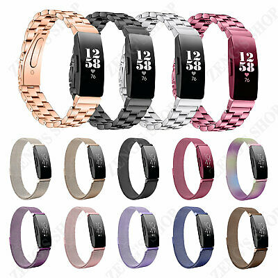 Silicone Stainless Steel Milanese Strap Band Replacement For Fitbit Inspire / HR