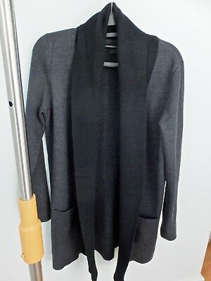 Women's Clothing Nwt Yoox Fornarina Long Embroidered Wool Blend Open Cardigan Size M