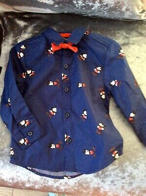 bnwt Mickey Mouse baby boys shirt and bow tie age 6/9 mths
