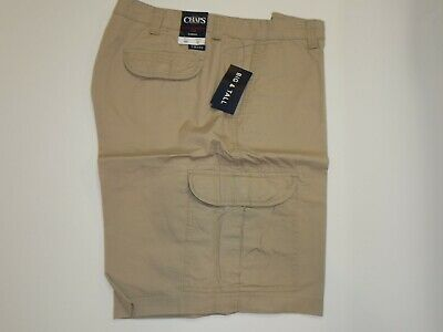 24a04c82c7 Chaps Cotton Cargo Ripstop Shorts 32 - 50 NEW Khaki Navy Gray Black