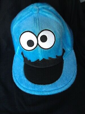 60d8564157642 SESAME STREET COOKIE Monster Flatbill Fitted Premium Quality Hat 7 3 ...