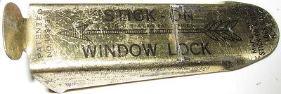 1919 Antique Vintage Stick-on Window Lock.