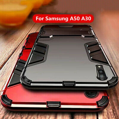 For Samsung Galaxy A50 A30 A10 70 Shockproof Hybrid Armor Stand Shell Case Cover